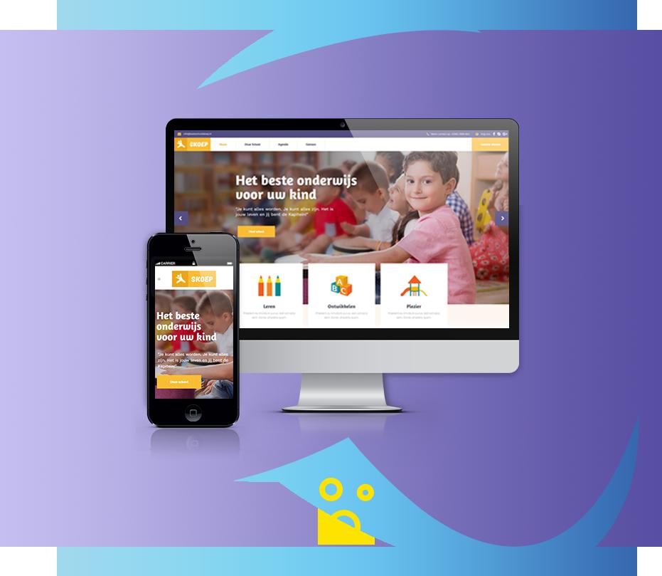 website basisschool - mockup